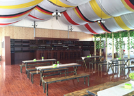 Custom Glass Wall Outdoor Frame Party Tent , Big Tent For Wedding Reception