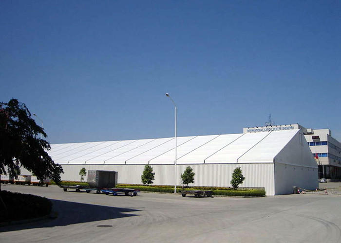 Windproof White Giant Canopy Marquee Tent With Sidewalls Aluminum Structure Material