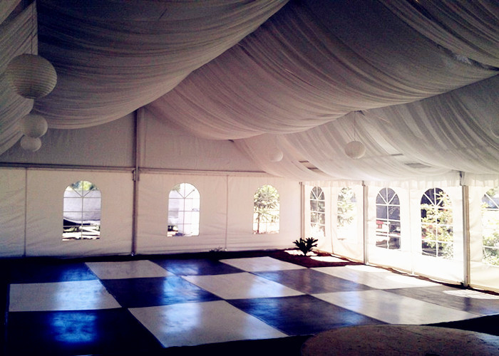 Double PVC Rooftop Wedding Party Tent For Anniversary / Wedding Reception