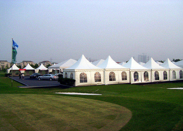 3x3m / 4x4m High Peak Pagoda Wedding Party Tent , Geodesic Dome Party Tent