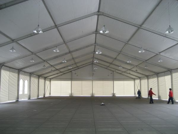 Durable Sun Proof Industrial Warehouse Tent Large Aluminum Frame Structural