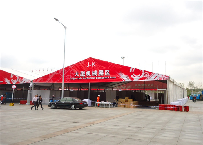 Aluminum Framed Structure Trade Show Tents Clear Span Double Coated PVC Fabric