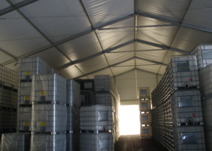 Sliding Door Waterproof Industrial Warehouse Tent Heavy Duty Aluminum Structure